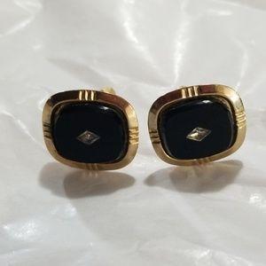 Vintage Classic Onyx Cuff Links